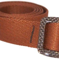 Bison Designs 30Mm Carbonator Web Belt With 100-Percent Carbon Fiber Buckle (Chocolate Brown, 38-Inch Maximum Waist/Medium)