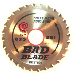 Kwiktool Usa Bbst500 C7 Bad Blade Super Thin 5-Inch 28 Tooth With 1-Inch To 20Mm Arbor