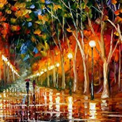 Hand-Painted Artwork Living Room Bedroom Corridor Decor Art Beatifuly Palette Knife Oil Paintings On Canvas (The Path To Victory) - 36 X 20 Inch , Unframed