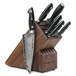 Kramer By Zwilling Ja Henckels Bob Kramer Stainless Damascus 7-Piece Block Set By Zwilling J.A. Henckels 34952-003