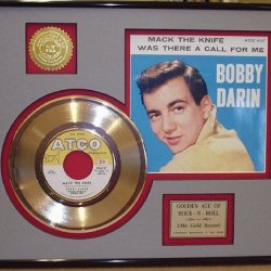 "Bobby Darin ""Mack The Knife"" Framed 24Kt Gold Record"