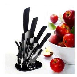 "Ceramic Knives Ceramic Knife Set --6 Include A Peeler, A 3"" Pairing Knife 4"" Slicing Knife, A 5"" Santoku Knife, A 6"" Chef Knife And An Acrylic Knife Block Holder"