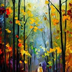Fine Art Painting Superb Quality And Craftsmanship On Canvas Palette Knife Morning Mood 20 X 36 In Unframed