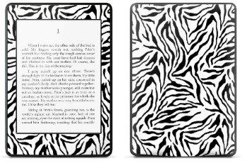 Amazon Kindle Paperwhite スキンシール アニマル模様 ゼブラ模様 (No.254-kpw)