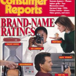 Consumer Reports Pocket Knives, Stereos, Cameras, Lenses, Tv Sets ++ 12 1993