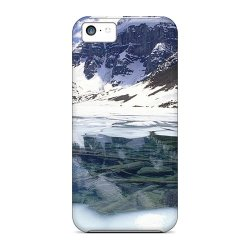 Mine World Amazing Mountains Lake In Winter Tpu Case For Iphone 5C Color White