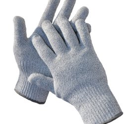 G & F Cutshield Classic Kitchen Cut & Slash Resistant Gloves, Food Contact Safe, Grey, Size Large