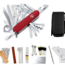 Swiss Army Knife, Red Swisschamp With Sos Set, Victorinox 53511, New In Box