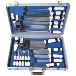 Slitzertm 22Pc Professional Cutlery Set In Case