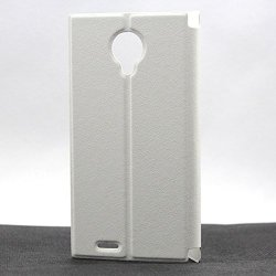 Doogee Dg550 Flip Leather Case Super-Thin Slim Stand Cover High Quality Pu Pouch For Doogee Dagger Dg550 Mtk6592 (White)
