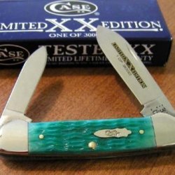 Case Cutlery Canoe Sea Green Bone Single Blade Pocket Knife