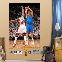 Nba Dallas Mavericks Dirk Nowitzki Finals Mvp Mural Fathead
