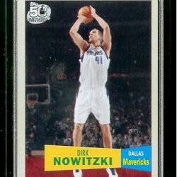 2007-08 Topps Basketball 1957-58 Variations # 41 Dirk Nowitzki - Nba Trading Card