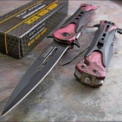 Tac-Force Pink Camo Dagger Glass Breaker Rescue Knife
