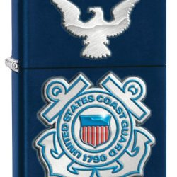 Zippo United States Coast Guard With Eagle Lighter, Navy Matte