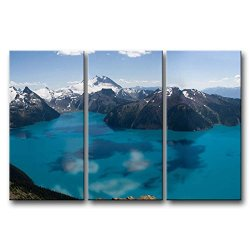 3 Pieces Blue Wall Art Painting Garibaldi Lake Canada Snow Mountain Pictures Prints On Canvas Landscape The Picture Decor Oil For Home Modern Decoration Print For Kitchen