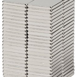"""Bykes Neodymium Super Strong Extremly Powerful Rare Earth Refrigerator Magnets 1/2"""" X 1/2"""" X 1/16"""" Square N42 - Set Of 80"""