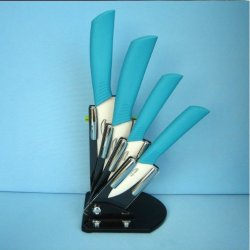 6Pcs Gift Set , 3 Inch+4 Inch+5 Inch+6 Inch+Peeler +Knife Holder Ceramic Knife Sets By Coolshiny