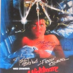 "A Nightmare On Elm St 11""X17"" Photo Signed By Robert Englund And Heather Langenkamp W/Coa Pic Proof"