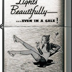 Zippo Brushed Chrome Vintage Windproof Lighter