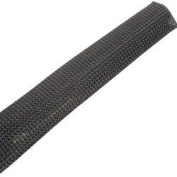 Techflex Ccp0.50Bk Flexo Clean Cut 1/2-Inch Braided Cable Sleeve, Black - 100 Feet