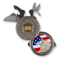 Police Officer Knife Coin