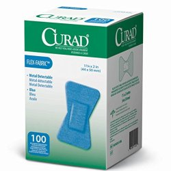 Medline Non25513Bl Curad Food Service Adhesive Bandages, Blue (Case Of 1200)