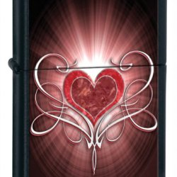 Zippo Heart Black Matte Lighter