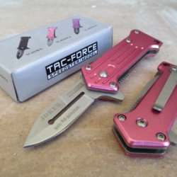 """Tac-Force New Mini-Joker """"Why So Serious"""" Assisted Opening Linerlock Tactic Pink A/O Speed Rescue Knife"""