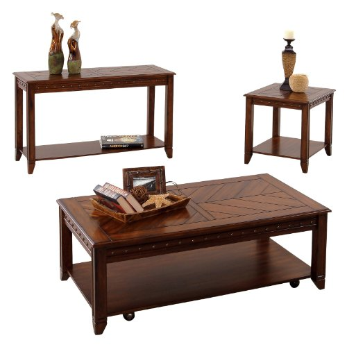Image of Progressive Furniture Sofa/Console Table - Cherry/Rubberwood (P354-05)