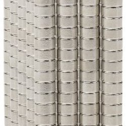 """Bykes 500 Neodymium Super Strong Extremly Powerful Rare Earth Refrigerator Magnets - Perfect For Metal Collar Stays - 1/8"""" X 1/16"""" Disc M48"""