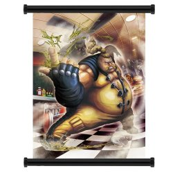 "Street Fighter X Tekken Rufus Game Fabric Wall Scroll Poster (31""X42"") Inches"