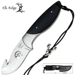 Elk Ridge Ep-003Bk Professional Gut Hook Knife, 7-Inch Overall
