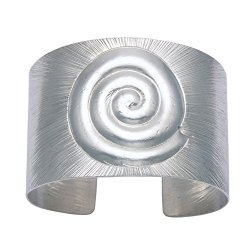 Sterling Silver Nautilus Shell Design Cuff Bracelet