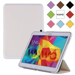 Wawo Samsung Galaxy Tab 4 10.1 Inch Tablet Smart Cover Creative Fold Case - White