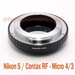 Fotasy Amrf Nikon S And Contax Rf Rangefinder (Outer Bayonet Mount) Lens To Micro Four Thirds M43 Mft System Camera Mount Adapter