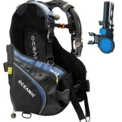 New Oceanic Flex 2 Weight Integrated Scuba Diving Bcd With Air Xs 2 Alternate Air Inflator Regulator Installed On Bcd (Size Medium-Large)
