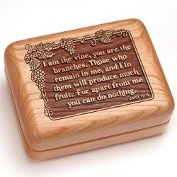 """3X4"""" Box With Money Clip/Pocket Knife - John 15:5"""