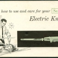 How To Use And Care For Your Sears Electric Knife Booklet Ca 1960S