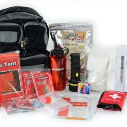 Urban Emergency Bug Out Bag - Basic 2 Person Go Pack - City Disaster Survival Kit - Food, Water, Hygiene, First Aid, Warmth