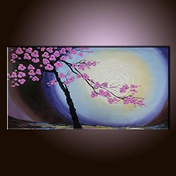 Palette Knife 10X20 In/25X50Cm Flower Blooming,Fine Art Superb Quality And Craftsmanship,Unframed Knife Painting Wall Art