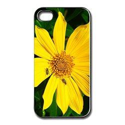 Funny Spigen Yellow Flower Apple Iphone 4S Case