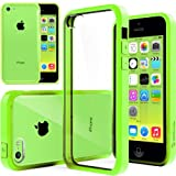 iPhone 5C case, Caseology® [Clear back Bumper] [Lime Green] DIY Customization Fusion Hybrid Cover [Shock Absorbent] Apple iPhone 5C case