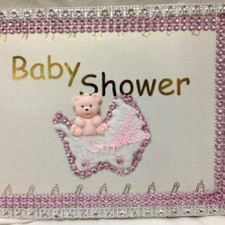 Baby Bear Girl Baby Shower Guest Book Keepsake Remembrance Gift