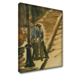 """Rue Mossnier With Knife Grinder"" By Manet, Art Print / Modern Canvas / Painting / Wall Picture. Size 24'' X 34'' - 61 X 86.5 Cm."