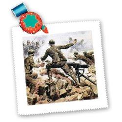 Qs_82153_2 Danita Delimont - Wwi - Wwi, Italian Troops, Italy - Eu16 Pri0094 - Prisma - Quilt Squares - 6X6 Inch Quilt Square