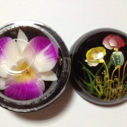 Flower Engraving Soap Size L Thai Handmade Products