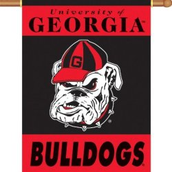 "96107 - Georgia Bulldogs 2-Sided 28"" X 40"" Banner W/ Pole Sleeve"