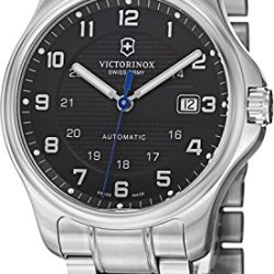 Victorinox Swiss Army Officer'S Men'S Black Dial Stainless Steel Automatic Watch 241671.1 - With Knife