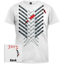 3Oh!3 - Knives T-Shirt Youth Large White